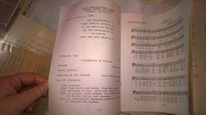 An old worship bulletin.