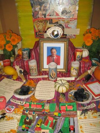 An altar for Mister Rogers from 2013.